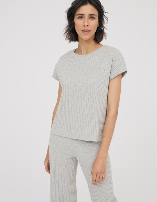 Rib Knit T-shirt, Made in Portugal