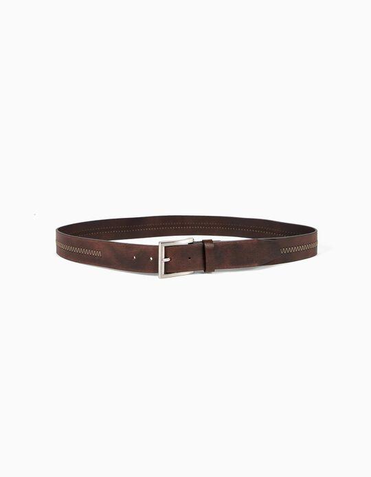 Belt with zigzag seam