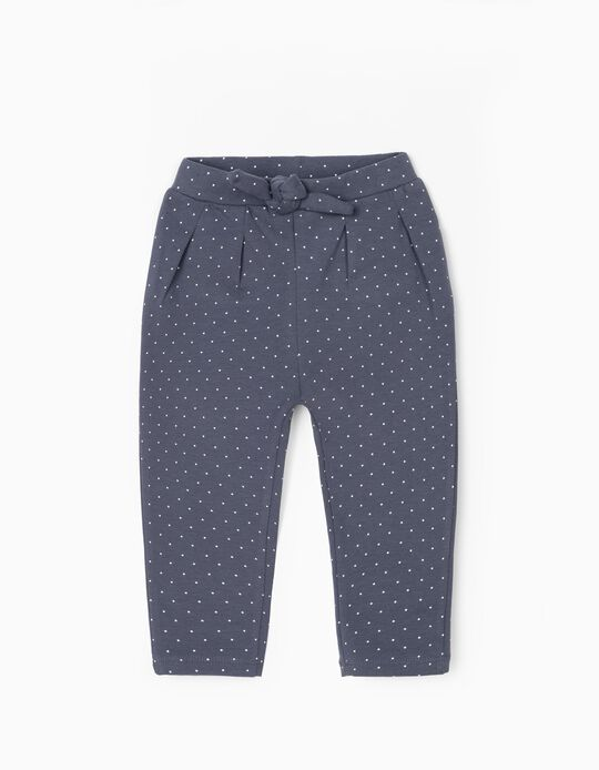 Joggers for Baby Girls 'Dots', Blue