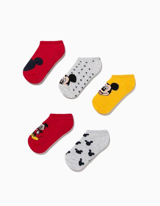 5 Pairs 'Disney' Trainer Socks, Boys