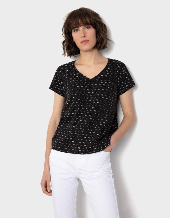 Patterned T-shirt, for Women