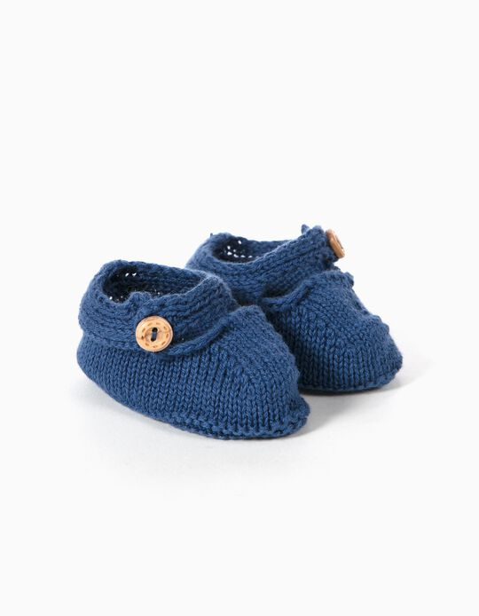 Botinhas Tricotadas Azuis