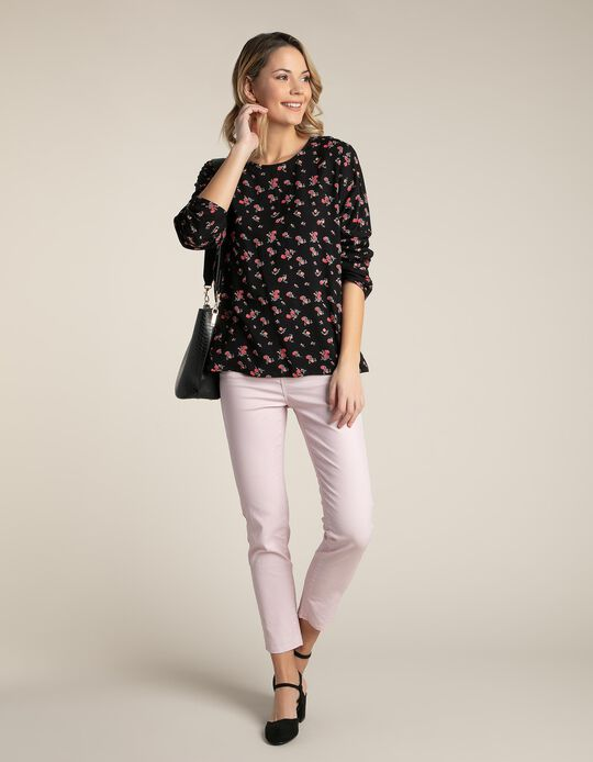 Fluid Blouse with Floral Print