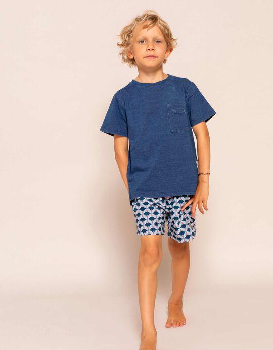 Printed Swim Shorts for Boys, Blue