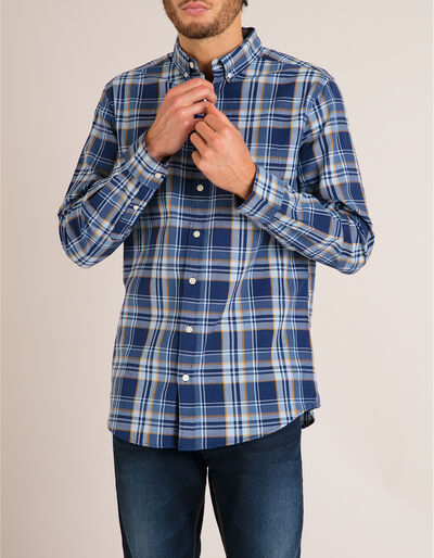 Camisa Xadrez Slim Fit