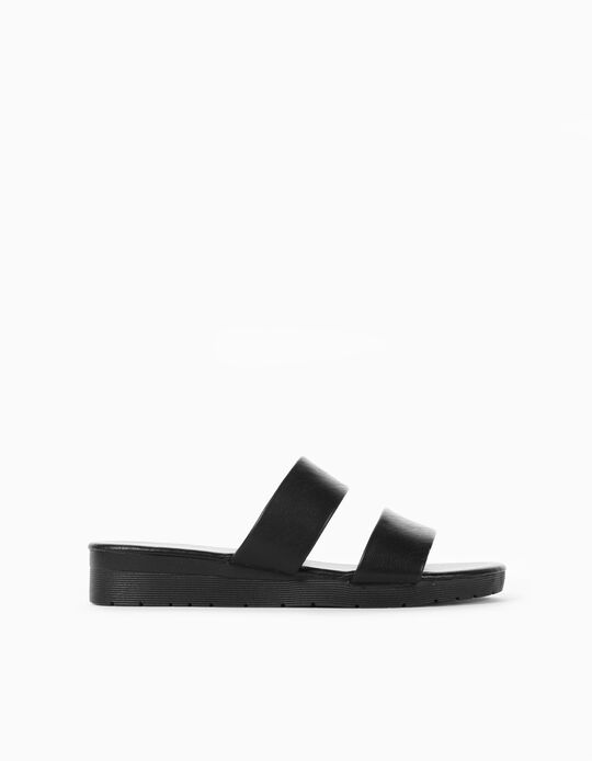 Strappy Sandals for Women, Black