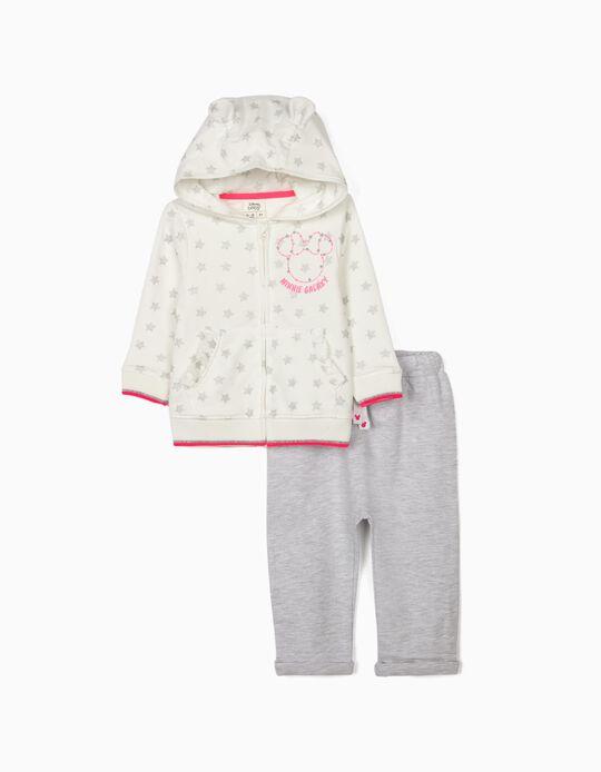 Fato de Treino para Bebé Menina 'Minnie Galaxy', Branco/Cinza
