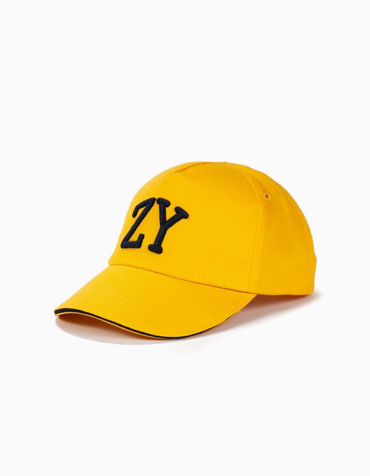 Boné para Menino 'ZY', Amarelo