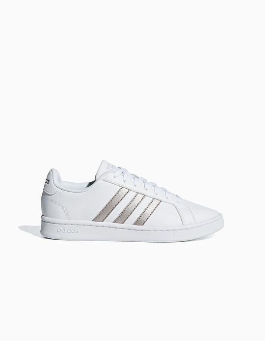 Sapatilha Adidas Gr Court prateado