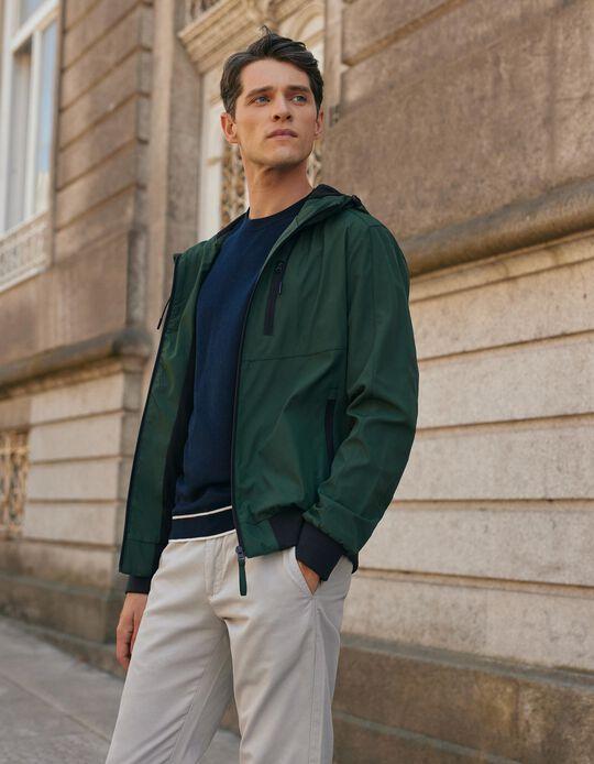 Hooded Jacket for Men, Green