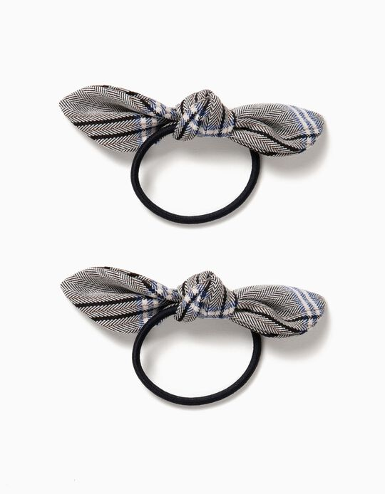 Pack of 2 Plaid Hair Ties