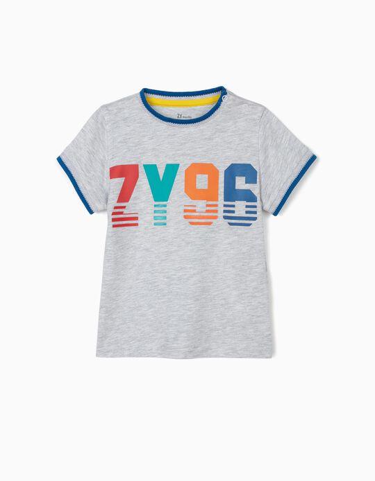 T-shirt para Bebé Menino 'ZY 96', Cinza