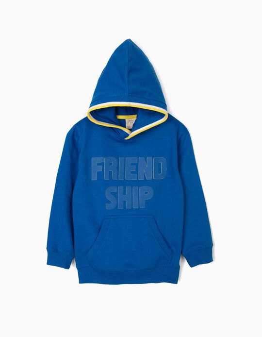 Sweatshirt com Capuz para Menino 'Friendship', Azul