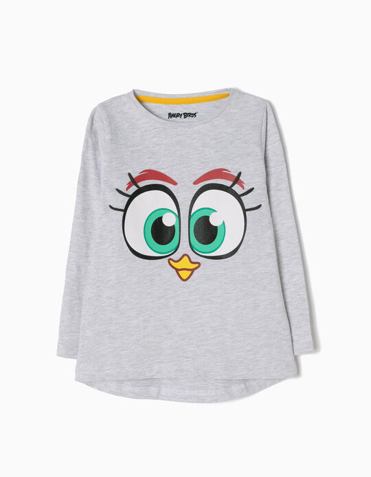 T-shirt Manga Comprida Angry Birds Cinzenta