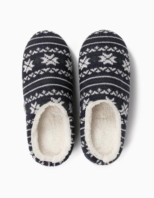 Christmas Shearling Slippers