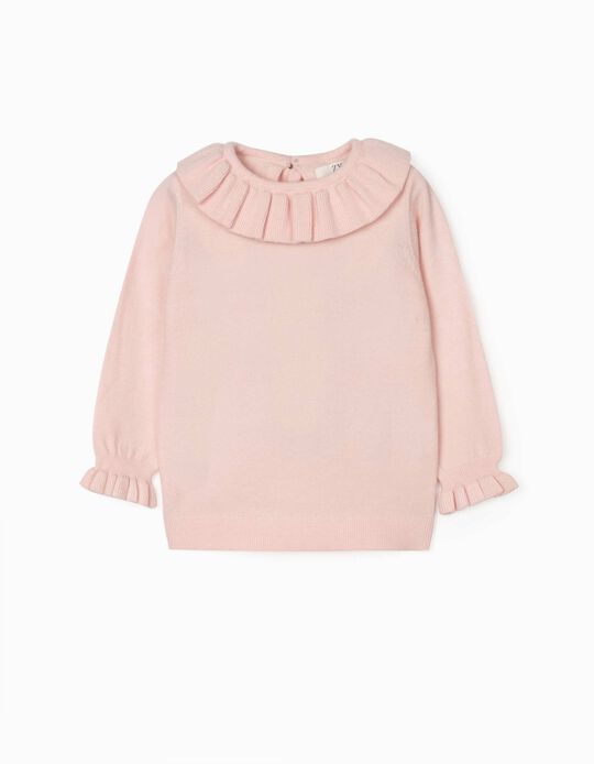 Jumper with Frills for Baby Girls, Light Pink