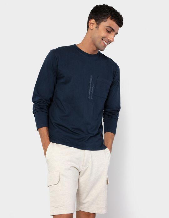 Long Sleeve Top, Dark Blue