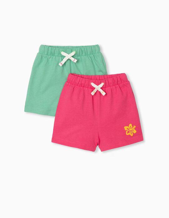 2 Jogger Shorts, Baby Girls