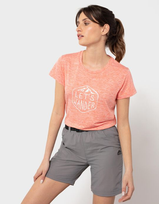 Printed T-shirt, Trekking, for Women