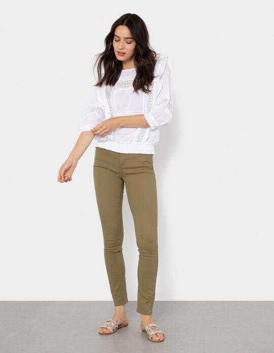 Twill Trousers, Green