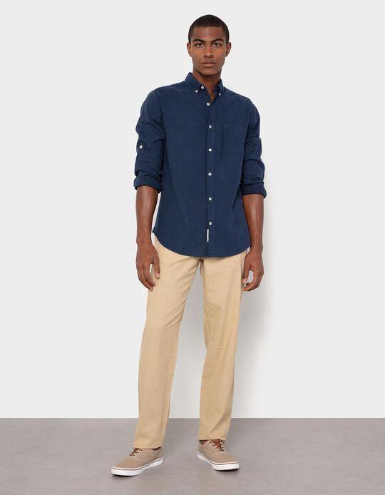 Linen and Cotton Shirt, Men