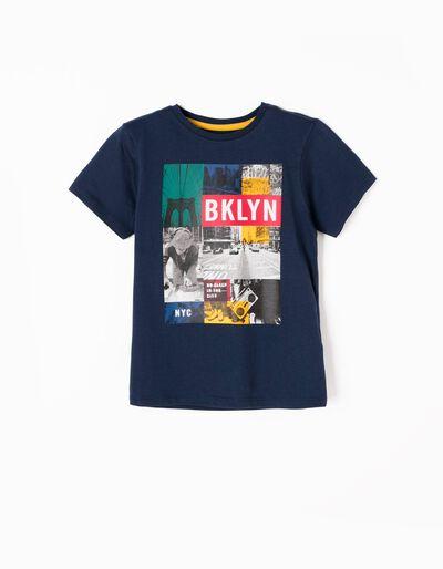 T-shirt Brooklyn Azul