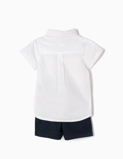 Cojunto Camisa com Laço e Calções