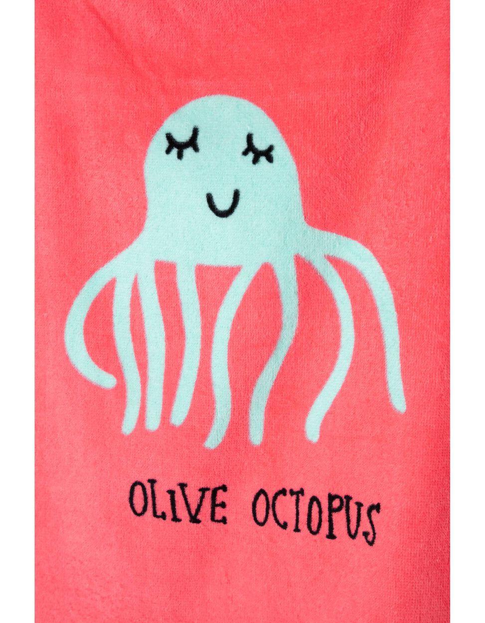Poncho de Praia Olive Octopus
