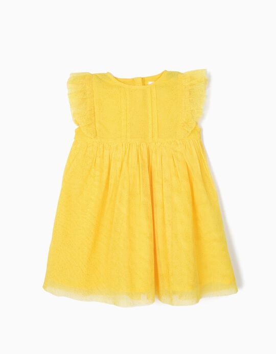 Vestido de Tule para Bebé Menina, Amarelo