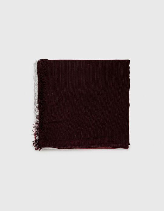 Gradient Scarf, Women, Dark Red