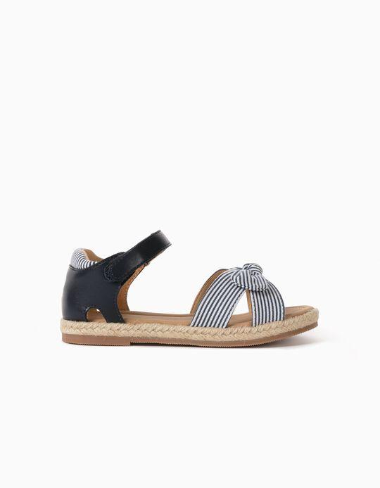 Sandálias Combinadas para Menina, Azul Escuro/Branco