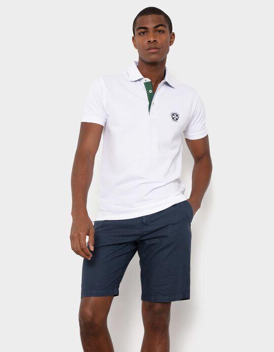 Short Sleeve Polo Shirt for Men, White