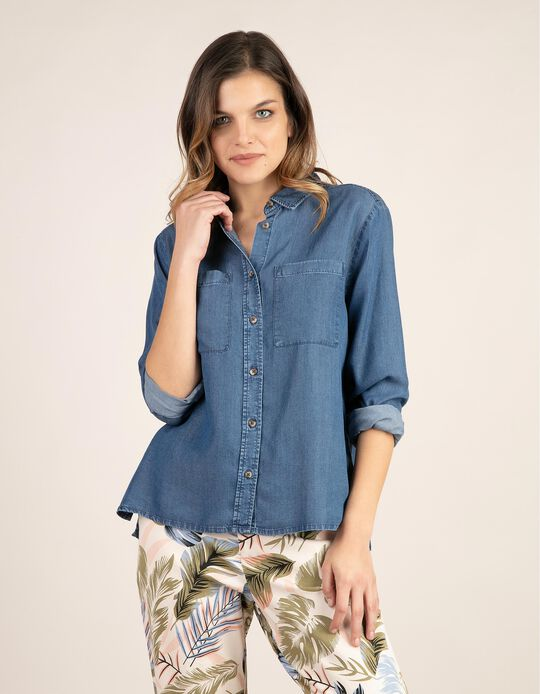 Shirt in Tencel with Pockets