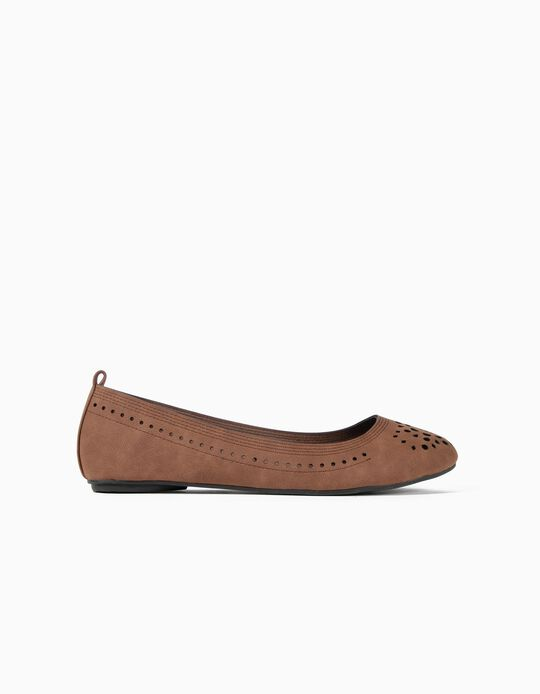 Perforated Ballet Pumps