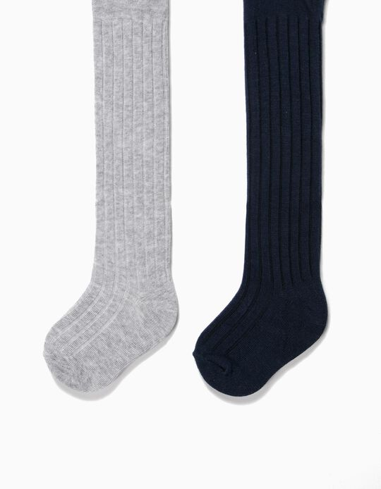 Rib Knit Tights, pack of 2