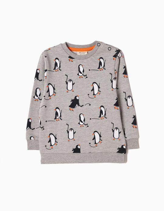 Sweatshirt Pinguins Cinzenta