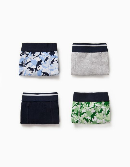 4 Boxer Shorts for Boys 'Dinosaurs', Multicoloured