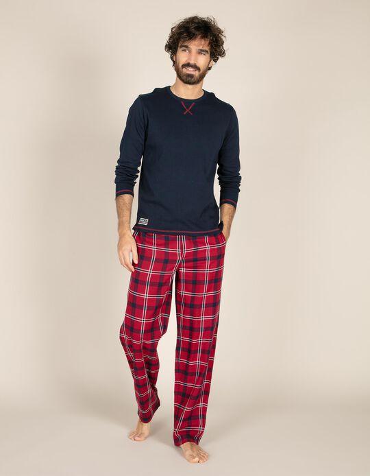 Calças de pijama em vaiela