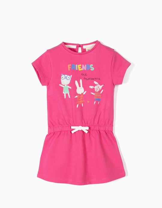 Vestido para Bebé Menina 'Friends Are Awesome', Rosa
