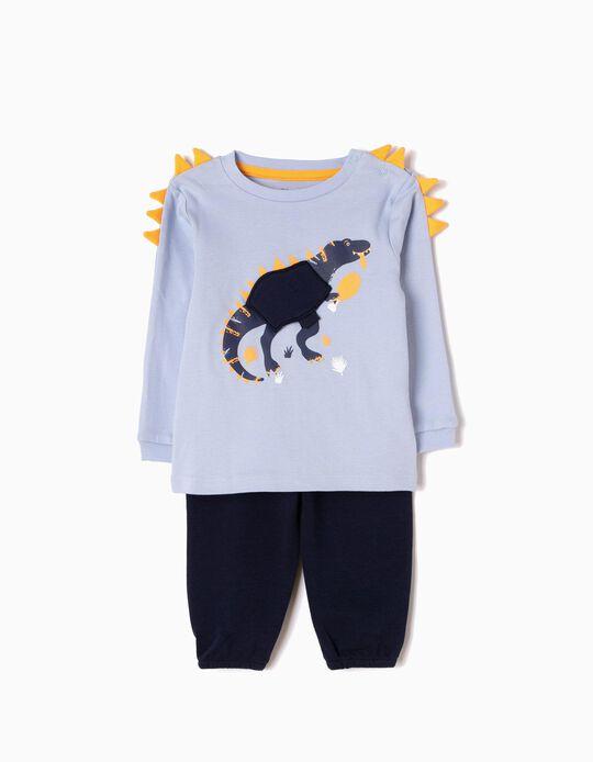 Pijama Manga Comprida e Calças Dinossauro
