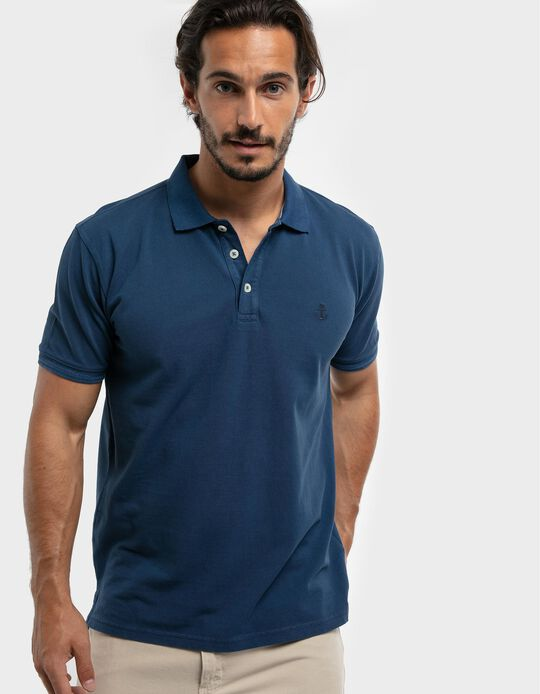 Embroidered Piqué Knit Polo Shirt