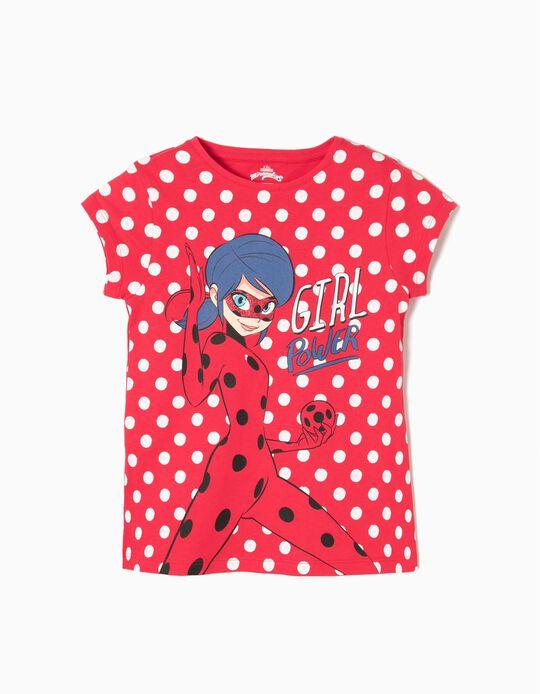 T-shirt Ladybug Bolinhas