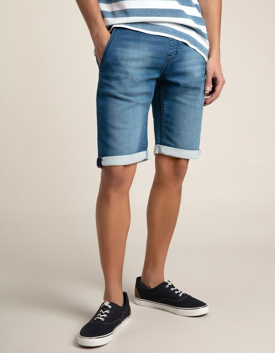 Sporty Denim Shorts
