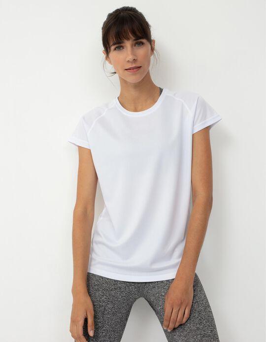 Techno Sports T-shirt for Women, White