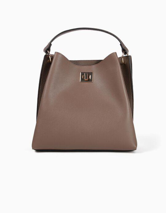 Handbag with pebbled details