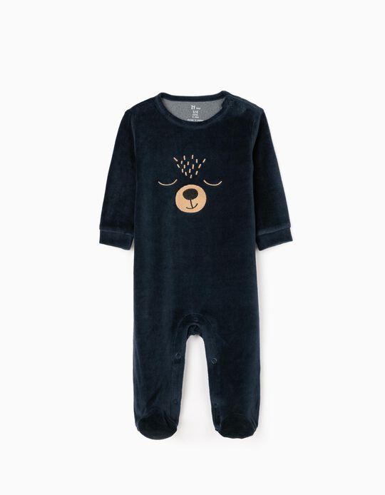 Sleepsuit for Baby Boys 'Bear', Dark Blue