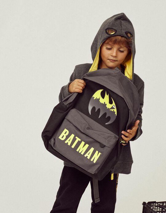 Mochila para Menino 'Batman', Preta/Cinza