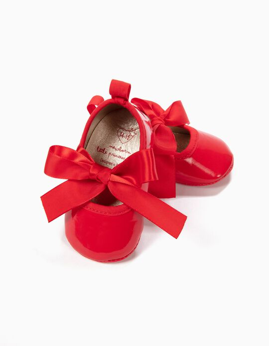 Sapatos Pre-Walker Verniz Vermelhos