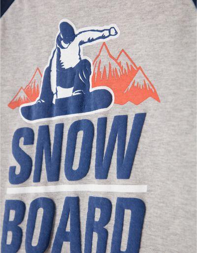 T-shirt Manga Comprida Snow