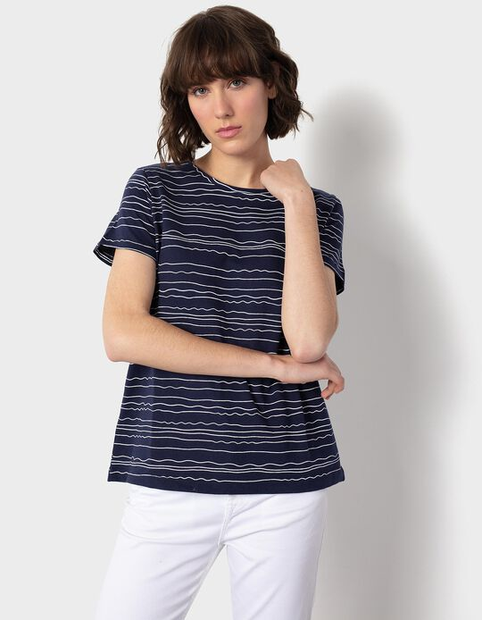 Striped T-shirt, for Women
